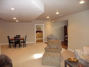 This is a great room in a basement finish.