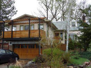 above-garage deck addition