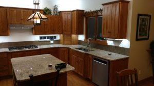 kitchen remodel with wood cupboards