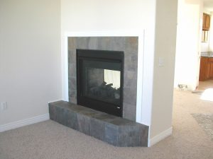 custom home in Colorado gas fireplace
