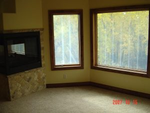 This shows the windows in a custom home living room.