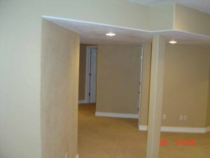 This is a basement finish great room.
