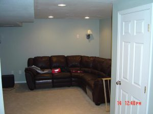 This is a basement finish living room.