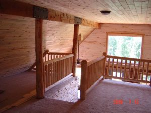 This is the upstairs loft of a cabin remodel.