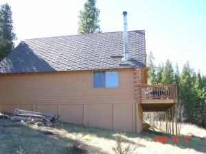 Here is the exterior side of a cabin remodel.
