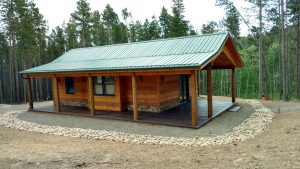 This is the exterior of a custom cabin.