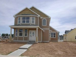 This is the street view of a newly completed custom home.