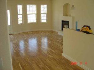 This picture shows the wood floor in a custom home.
