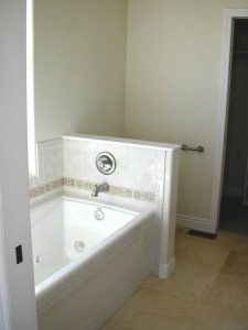 Shown here is a tub in a custom home.