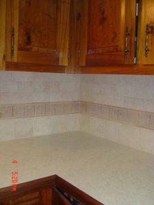 Here is a custom kitchen tile backsplash.