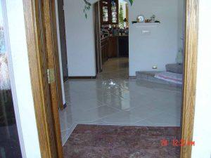 This shows a custom tile floor.