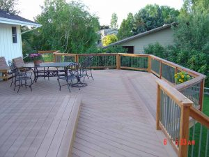 This is a view of the wood deck.